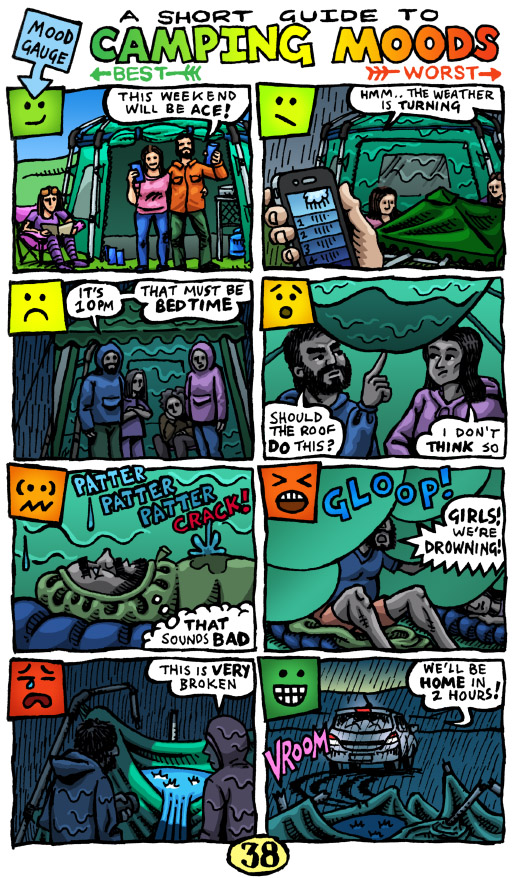 Weekend Comic (A Short Guide To Camping Moods)