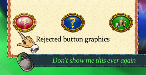 Rejected button graphics