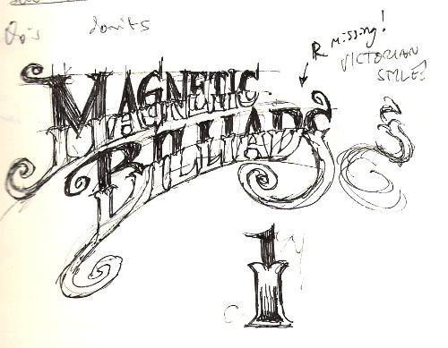 Magnetic Billiards logo sketch