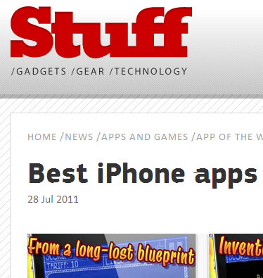 Stuff magazine - Best iPhone apps of the week