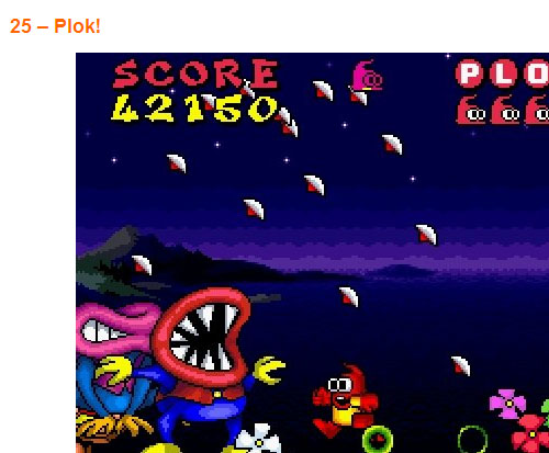 Plok 25th best game ever?