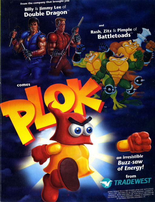 Plok US print advert #1 - SNES