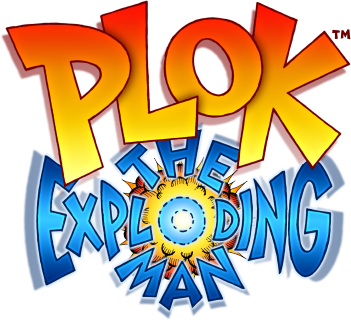 Plok The Exploding Man logo